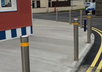New bollards & pedestrian crossing in Enniscrone