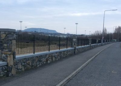 Railings along boundary wall, IT Sligo